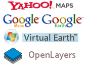 Visualisez les données CartoWeb dans Yahoo Maps, Google Earth, Google Maps, Virtual Earth